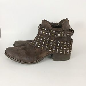 Matisse Reno Mixed Metal Studded Suede  Ankle Boot